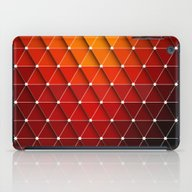Red Triangles iPad Case