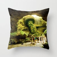 Journey to Lady Liberty Throw Pillow