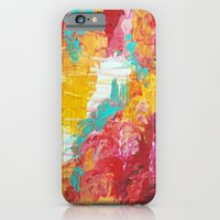iPhone & iPod Case featuring AUTUMN SKIES - Amazing Fall Colors Thunder Storm Rainy Sky Clouds Bold Colorful Abstract Painting by EbiEmporium
