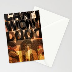CAN'T WON'T DON'T STOP Stationery Cards
