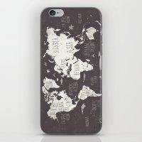 The World Map iPhone & iPod Skin