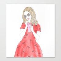 Milk-shake Time Canvas Print