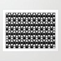 Black & White Triangles Art Print