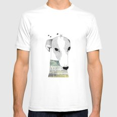 Mr. Galgo Dog SMALL Mens Fitted Tee White