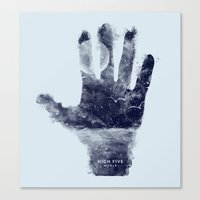 High Five World Canvas Print
