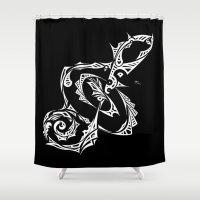 Treble Clef Shower Curtain