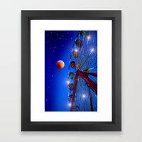 Ferris wheel to the moon Framed Art Print