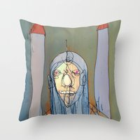 Daniel Rocket Moon Throw Pillow