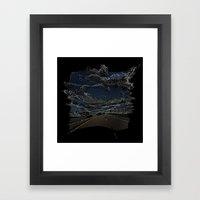 Pixelated Road Framed Art Print