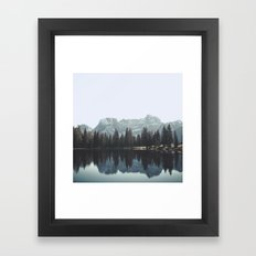 Reflections in the Dolomites Framed Art Print