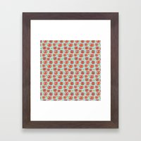 Pattern Project #32 / WTF Cats Framed Art Print