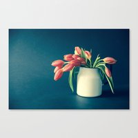 Thinking of You - Sending Tulips Canvas Print