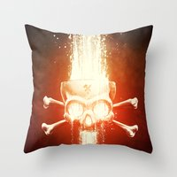 Black Smith Throw Pillow