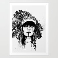 Look Inside - Black and White Art Print