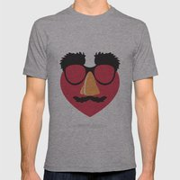 Love in Disguise Mens Fitted Tee Athletic Grey SMALL