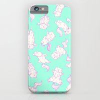 Lazy Cat Pattern Solid iPhone 6 Slim Case