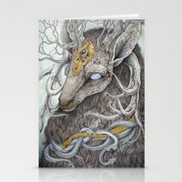 deer Stationery Cards featuring In Memory, as a print by Caitlin Hackett