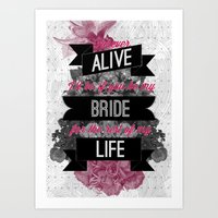 Be My Bride Art Print