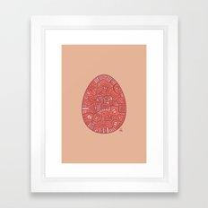Red Mechanical Egg Framed Art Print