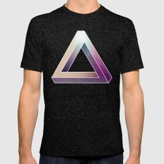 Penrose Triangular Universe Mens Fitted Tee Tri-Black SMALL