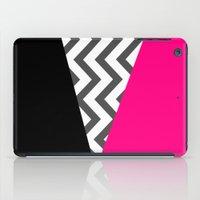 Color Blocked Chevron 8 iPad Case