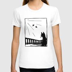 Bird watching Womens Fitted Tee White SMALL