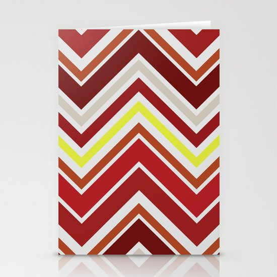 Red Chevron Stationery Card