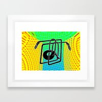 Noodle (yellow) Framed Art Print