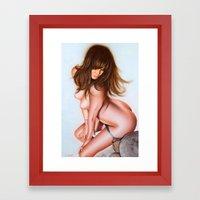 Nude Girl 1 Color Framed Art Print