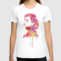Audrey .2 Womens Fitted Tee White SMALL