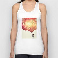 The universe in a soap-bubble! (Awesome Space / Nebula / Galaxy Negative Space Artwork) Unisex Tank Top