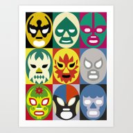 Art Print featuring Lucha Libre 1 by Scott Partridge