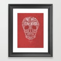 No One But Death (Shall … Framed Art Print