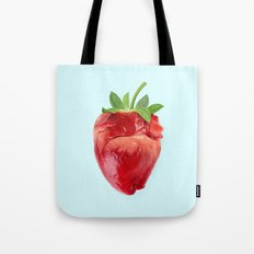 STRABERRY HEART Tote Bag