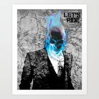 UNREAL PARTY 2012 GHOST RIDER Art Print