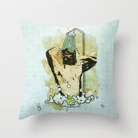 Showering that Sarlacc Off Throw Pillow