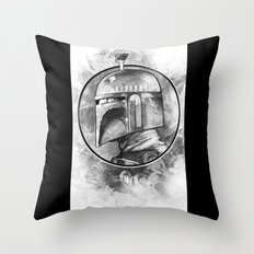 Boba Fett Remix Throw Pillow
