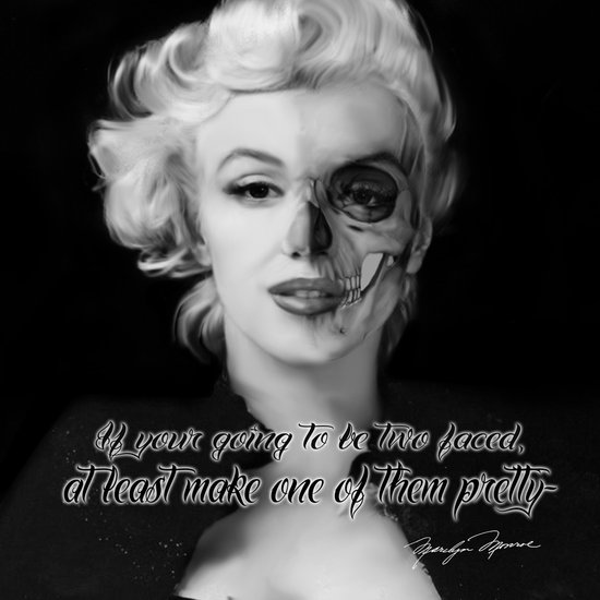 Two Face. Marilyn Quote Art Print