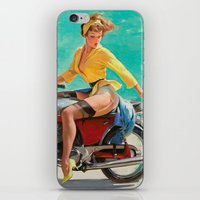 Gil Elvgren - Motorcycle Pinup Girl iPhone & iPod Skin
