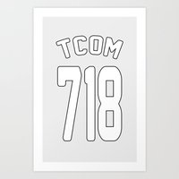TCOM 718 AREA CODE JERSE… Art Print