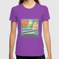 3 Heads Are Better Than … Womens Fitted Tee Ultraviolet SMALL