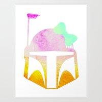 Star Wars Boba Fett and Bow 2 Art Print