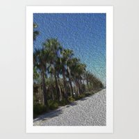 Infinite Palm Trees Art Print