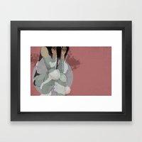 Lady Lost Framed Art Print