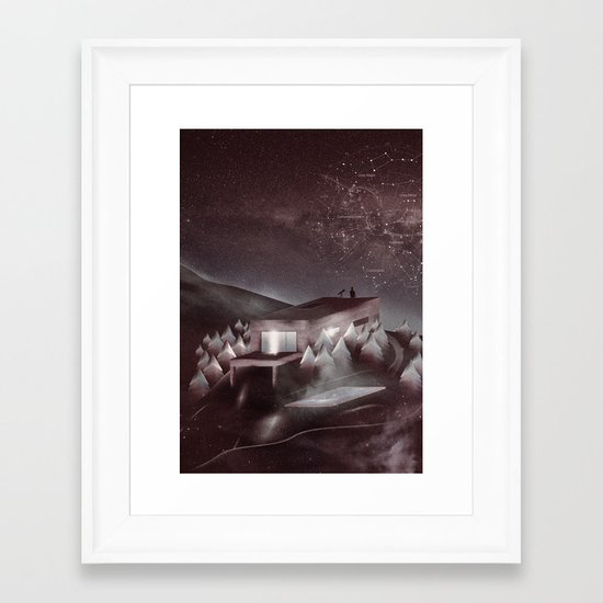 Night Sky Stories Framed Art Print