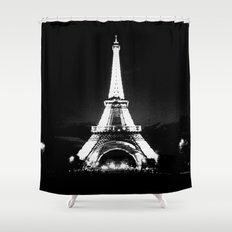 Paris Black & White Shower Curtain