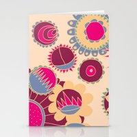 Flower Doodle Stationery Cards