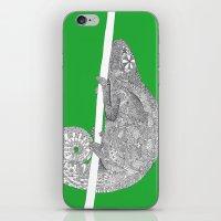 Green-Chameleon iPhone & iPod Skin