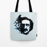 Edgar Allan Poe Crows Tote Bag