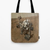 NASA Curiosity Rover's Self Portrait at 'John Klein' Drilling Site in HD Tote Bag